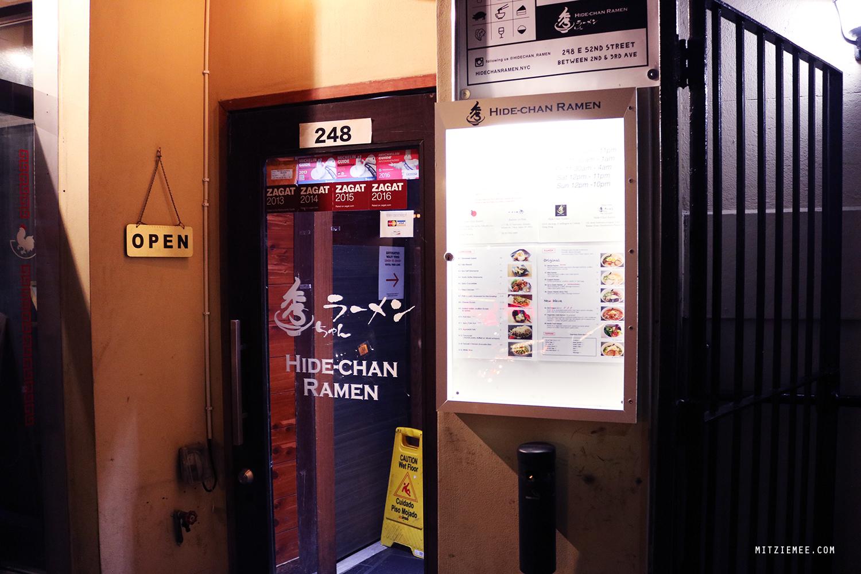 Hide-Chan, ramen restaurant in New York