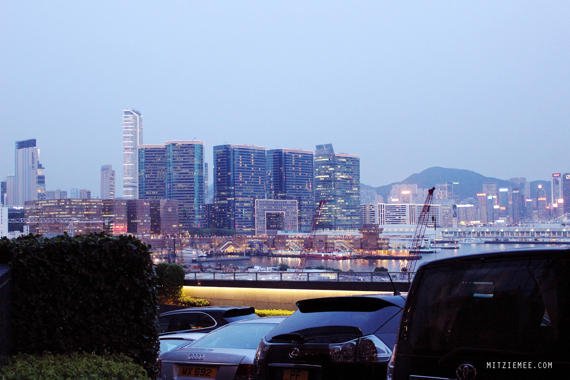 Hong Kong evening view