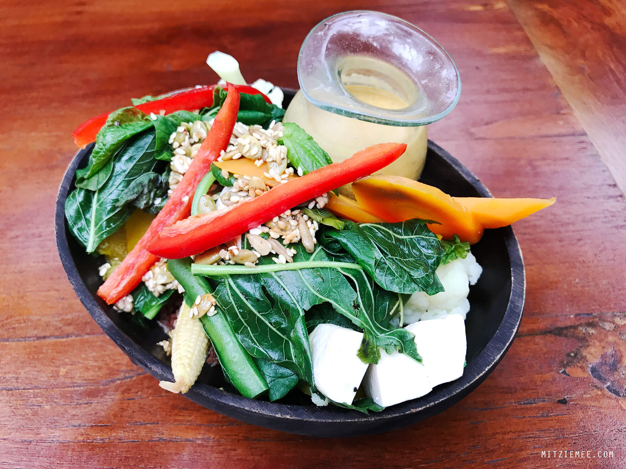 Macrobiotic bowl at Yoga Barn in Ubud, Bali