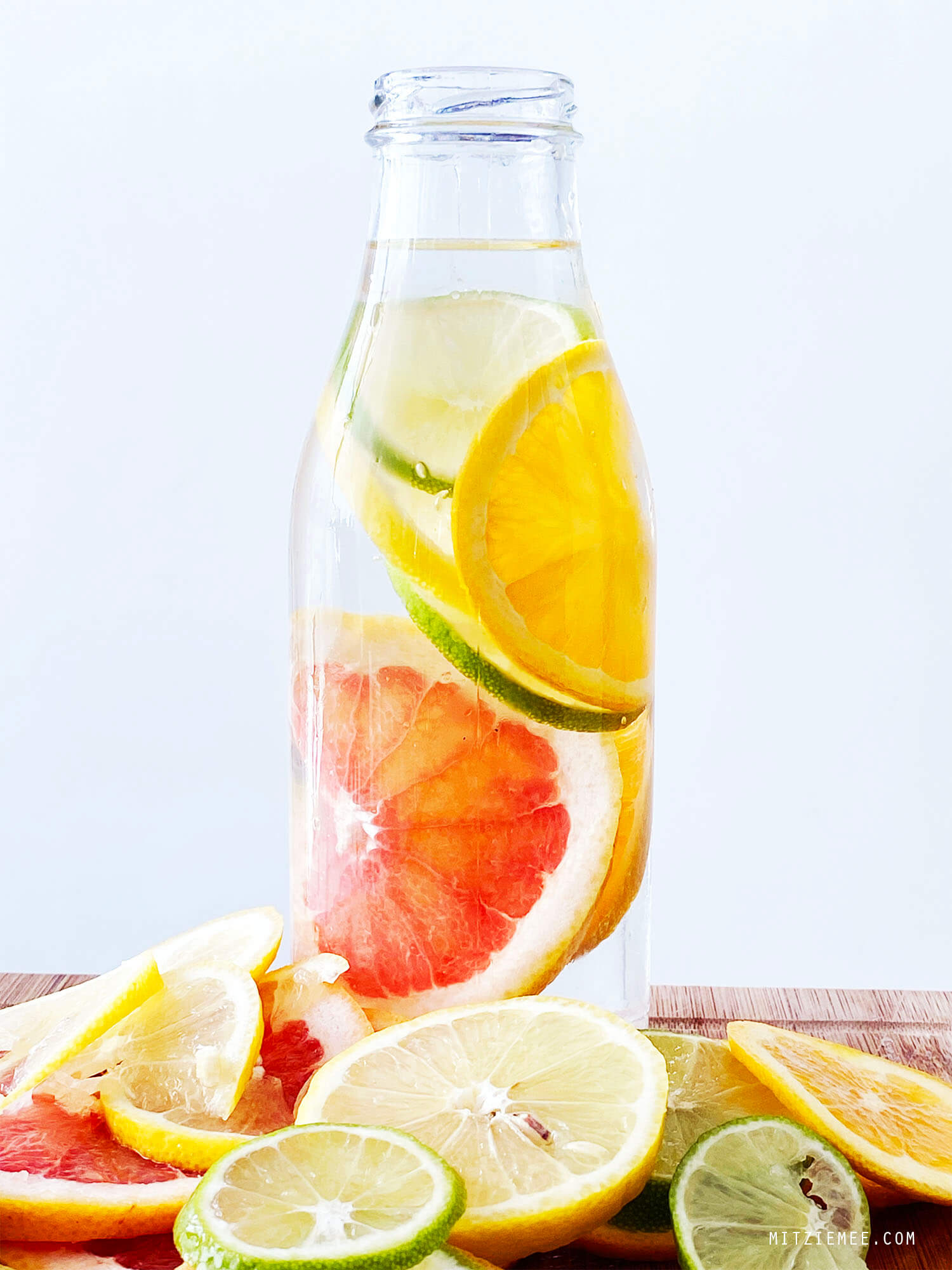 Infused water with grapefruit, orange, lime and lemon